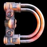 Alfabeto mecánico hecho del hierro Imágenes de archivo libres de regalías