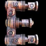 Alfabeto mecánico hecho del hierro Foto de archivo libre de regalías