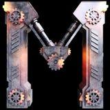 Alfabeto mecánico hecho del hierro Imagen de archivo