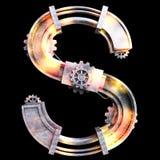 Alfabeto mecánico hecho del hierro Imagenes de archivo
