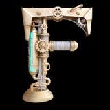Alfabeto mecánico hecho del hierro Foto de archivo