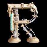 Alfabeto mecánico hecho del hierro Fotos de archivo libres de regalías