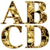 alfabeto mecânico das rodas denteadas das engrenagens da ilustração 3D Imagem de Stock