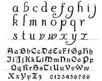 Alfabeto medievale Fotografie Stock
