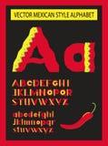 Alfabeto mexicano del estilo del vector Imagen de archivo libre de regalías