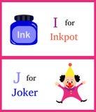 Alfabeto mim e J fotos de stock
