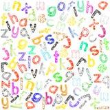 Alfabeto minúsculo Imagen de archivo libre de regalías