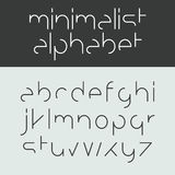 Alfabeto minimalista Fotos de Stock