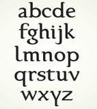 Alfabeto minuscolo Immagini Stock