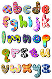 Alfabeto minuscolo modellato Immagine Stock Libera da Diritti