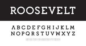 Alfabeto moderno dei caratteri tipografici con grazie Il vettore audace, regolare, sottile ha composto Nuovo modello classico del royalty illustrazione gratis