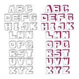 Alfabeto moderno dell'acquerello di vettore Immagine Stock