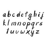 Alfabeto moderno dell'acquerello di vettore Fonte dell'acquerello illustrazione vettoriale