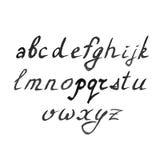 Alfabeto moderno dell'acquerello di vettore Fonte dell'acquerello royalty illustrazione gratis