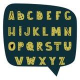 Alfabeto moderno tirado mão no estilo escandinavo ilustração royalty free