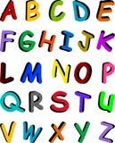 Alfabeto multicolor Fotos de archivo libres de regalías