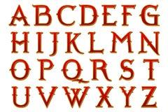 Alfabeto Narnia del libro de recuerdos de Digitaces ilustración del vector