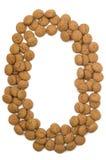 Alfabeto O de la tuerca del jengibre Foto de archivo libre de regalías