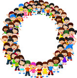 Alfabeto O do formulário das crianças ilustração stock
