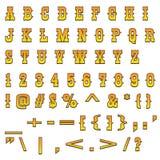 Alfabeto occidental Imagen de archivo libre de regalías
