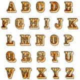 Alfabeto ocidental rústico Imagens de Stock