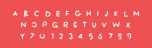 Alfabeto operato, lettere di simbolo, fonte dell'illustrazione di ABC di vettore della lettera, segno illustrazione di stock