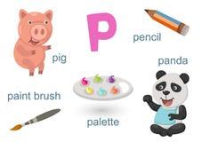 Alfabeto P stock de ilustración