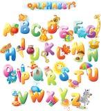 Alfabeto para los niños con las imágenes Fotografía de archivo libre de regalías