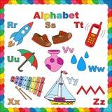 Alfabeto para los niños R-Z Fotografía de archivo