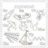 Alfabeto para los niños R-Z de las letras Letras aisladas Imagen de archivo libre de regalías