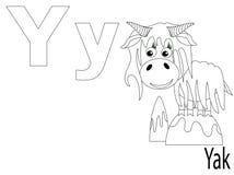 Alfabeto para miúdos, Y da coloração Fotos de Stock Royalty Free
