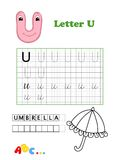 Alfabeto, paraguas Imagen de archivo