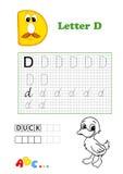Alfabeto, pato Imagem de Stock