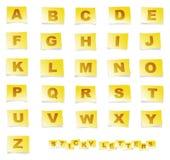 Alfabeto pegajoso Imagen de archivo