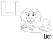 Alfabeto per i bambini, L di coloritura Immagine Stock