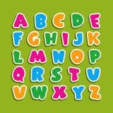Alfabeto per i bambini nello stile del fumetto fotografia stock