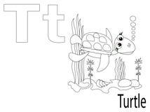 Alfabeto per i bambini, T di coloritura Fotografia Stock
