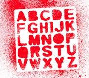 Alfabeto pintado fotografía de archivo