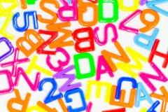 Alfabeto plástico Foto de Stock