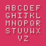 Alfabeto plano del pixel Fotografía de archivo libre de regalías