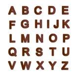 Alfabeto plateado de metal oxidado Foto de archivo libre de regalías