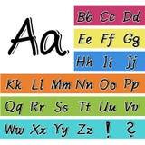alfabeto preto e branco da pia batismal do desenho da mão 3D Foto de Stock Royalty Free
