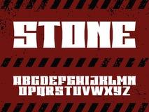 Alfabeto profesional moderno del vector con las letras latinas Tipografía de piedra stock de ilustración