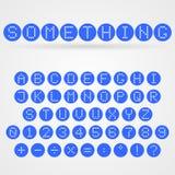 Alfabeto punteado vector Imagen de archivo libre de regalías