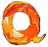 Alfabeto Q ilustração stock