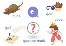 Alfabeto Q ilustración del vector