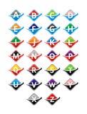 alfabeto quadrado da fatia ilustração stock