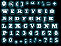 Alfabeto qwerty illustrazione di stock