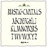 Alfabeto rústico de los capitales Foto de archivo