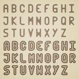 Alfabeto rayado original de la fuente Imágenes de archivo libres de regalías